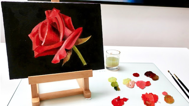 Non-Toxic Oil Painting-Paint a Rose