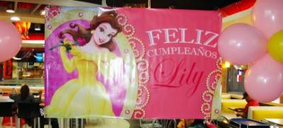 Banner de Cumpleaños Princesas Disney Bella