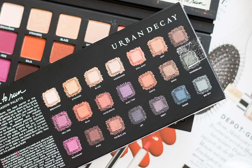 Urban Decay Born to Run Eyeshadow Palette Farben