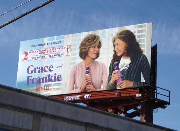 Grace Frankie season 3 SAG Award billboard