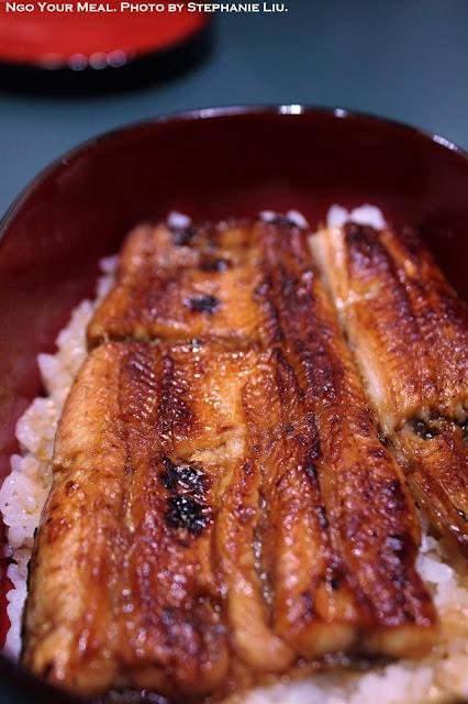 Ugagi Don (Grilled Eel Rice Bowl) at Unagiya Hirokawa in Kyoto, Japan