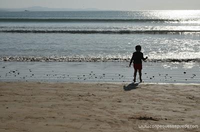 Jugando en la playa!