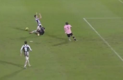 Juventus player Leonardo Bonucci thinks he is being shot at