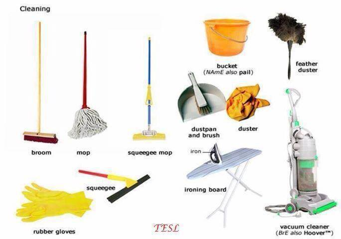 Click on cleaning other household chores for Different tools and equipment in horticulture