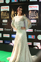 Sonal Chauhan in a stonework Floor Length Silver Designer Gown at IIFA Utsavam Awards March 2017 014.JPG