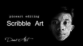 Cara Membuat Scribble Art Dengan Picsart Android