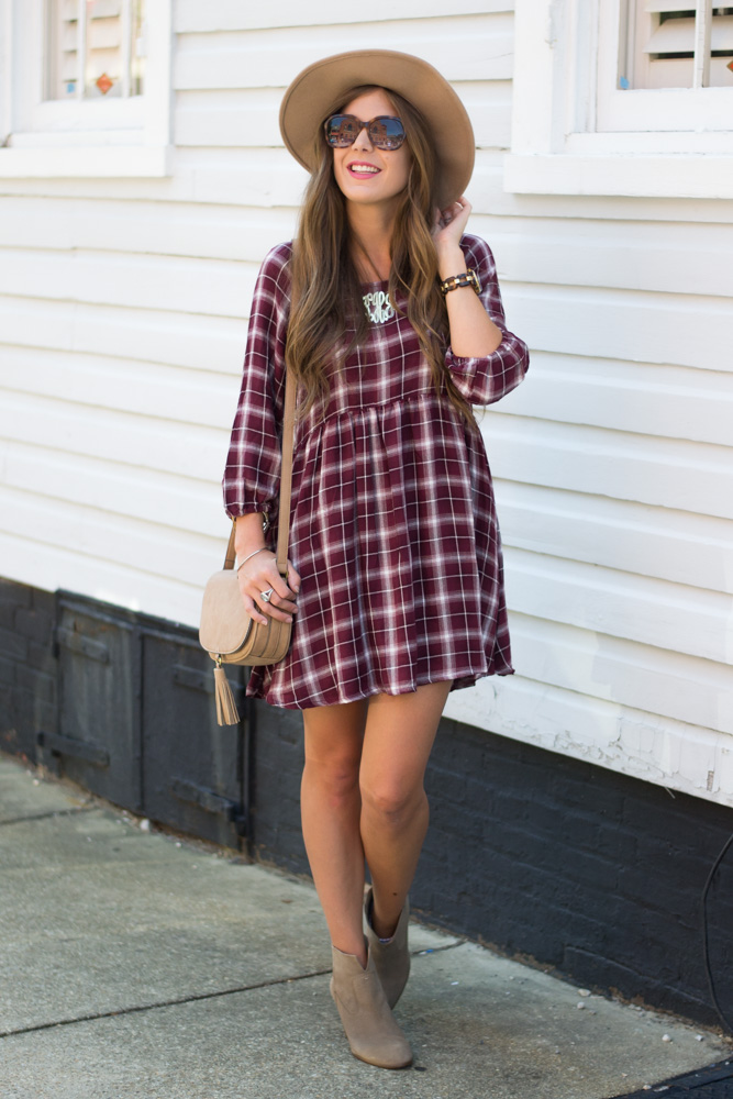 Perfect plaid fall dress