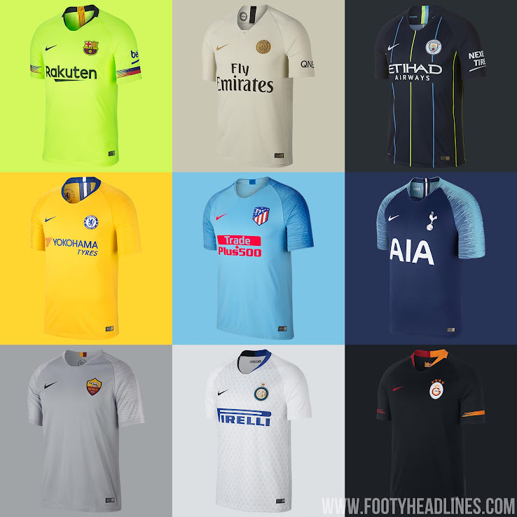 newest 09ad2 58cf8 Barcelona, Manchester City, PSG, Chelsea & More: Nike 18-19 ...