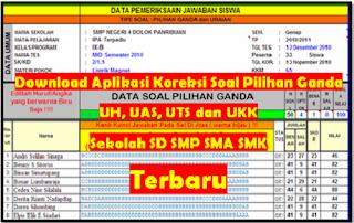 Download Aplikasi Koreksi Soal Pilihan Ganda Untuk UAS,UTS,UKK
