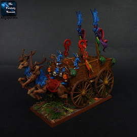 Wood Elves cart conversion with deers Warheim