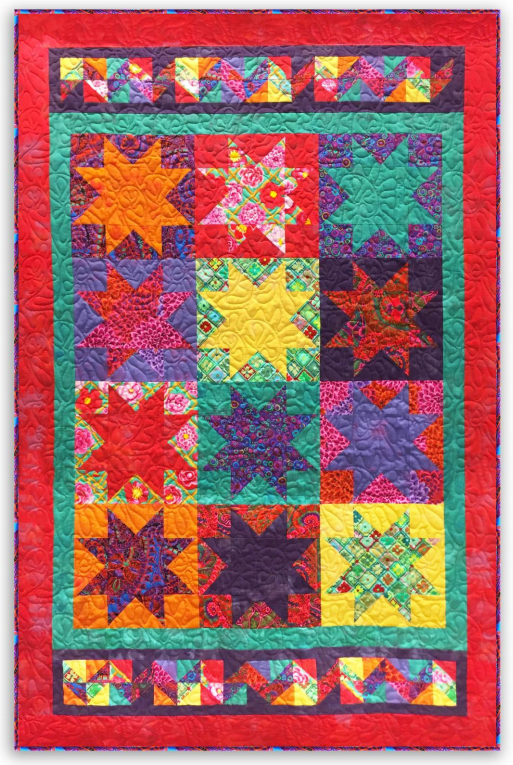 Kaffe Stars Quilt Free Pattern Designed by Donna Jordan for Jordan Fabrics