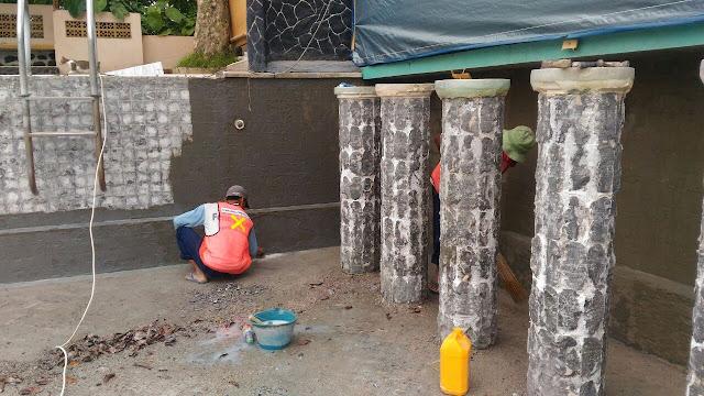 Proses water proofing proyek hotel danau dariza Garut