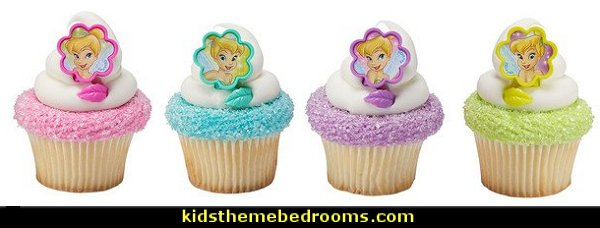 Tinker Bell I Believe in Fairies Cupcake Rings   tinkerbell party supplies - Tinkerbell party decorations - Disney fairies party supplies - party themes fairies -  tinkerbell peter pan party supplies - tinkerbell costume - disney fairy costume -  tinkerbell balloons - Pixie Fairy Charms party  favor