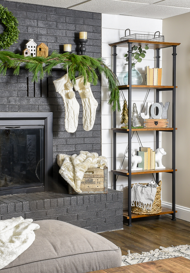 Neutral Christmas mantel, holiday mantel, Christmas, modern farmhouse, Christmas Village