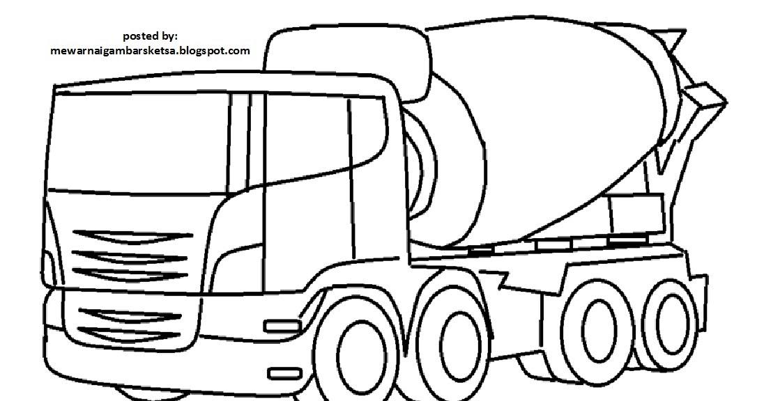 Mewarnai Gambar Mewarnai Gambar Mobil Truk Molen 1