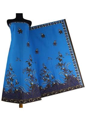 kain batik primisima HM-012 biru