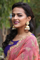 Actress Shraddha Srinath in Purple Chania Choli Cute Pics ~  Exclusive 19.jpg