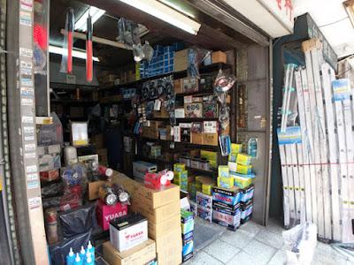 よく見かける台湾YUASAのバッテリー 電装屋さん?