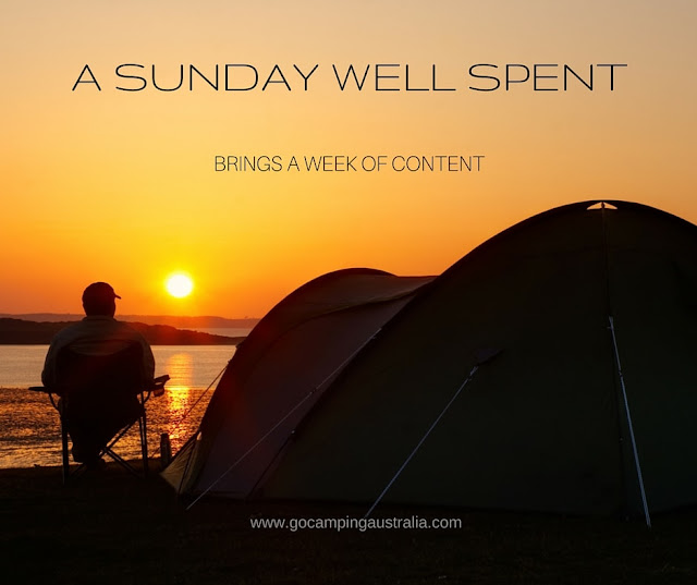 camping image and inspirational quote