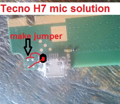 How to repair Tecno android H7 mic or mouthpiece