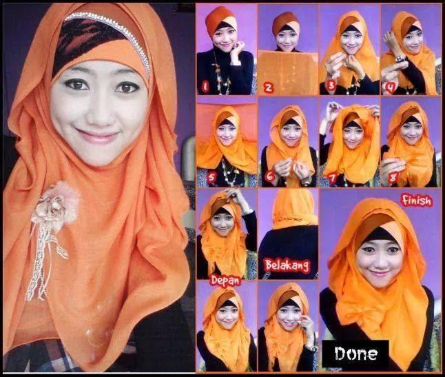 jilbab Segi empat kreasi 1