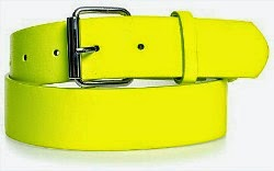 Neon Yellow 80s Belt