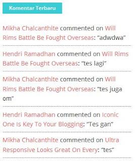 Cara Memasang Widget Komentar Terbaru di Blog
