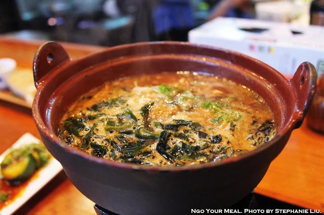 Yokozuna Dip Soba: Cold Soba with Onion, Cabbage, Bean Sprout, Chasiu Pork, Wakame Seaweed, Corn, Minced Pork, Garlic, Butter, Sesame Miso dipping sauce at Cocoron