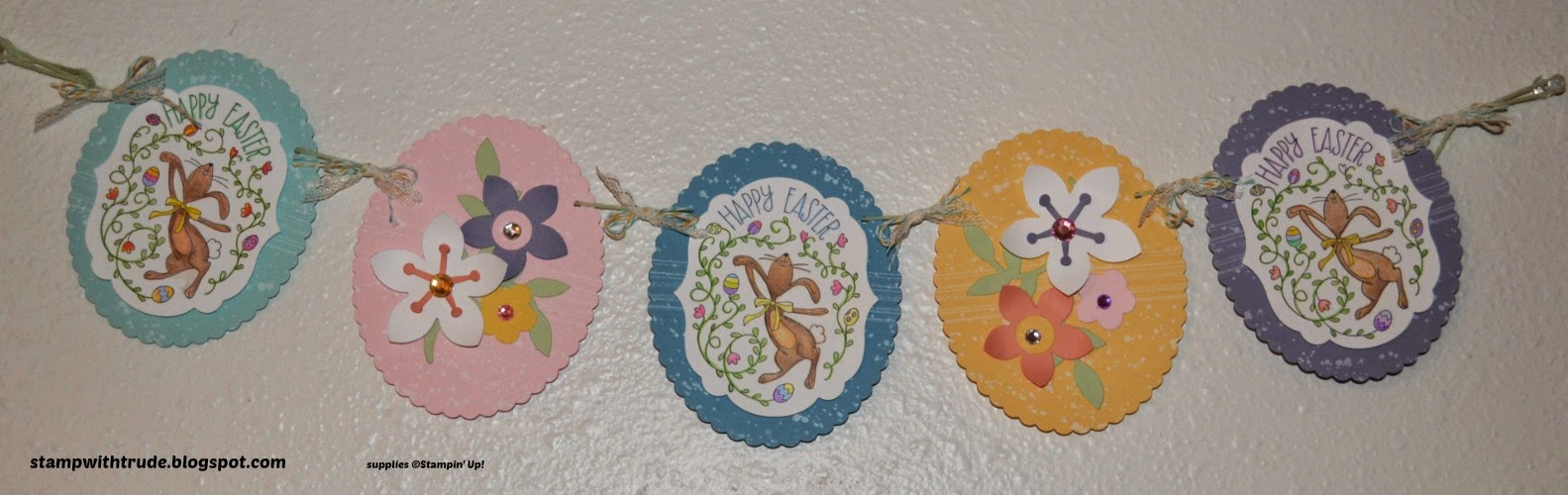 Happy Easter Bunny Banner, stampwithtrude.blogspot.com, trude thoman, Stampin' Up!, Flower Frenzy