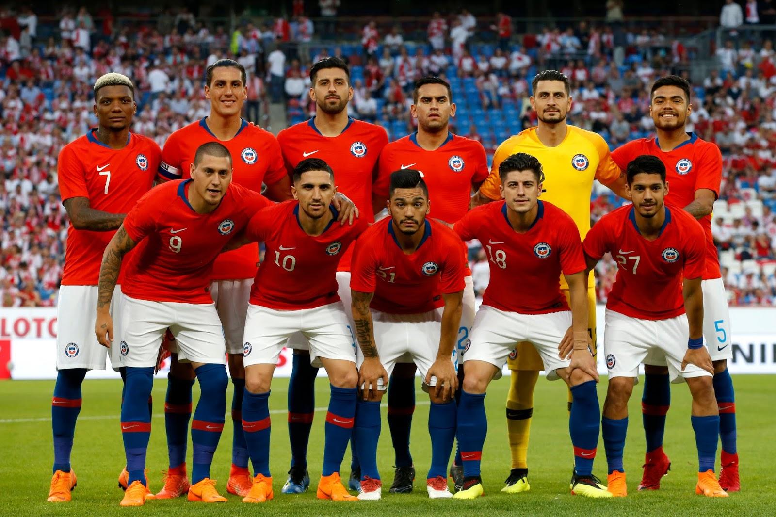 Formación de Chile ante Polonia, amistoso disputado el 8 de junio de 2018