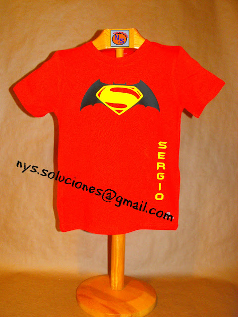camiseta batman y superman personalizada