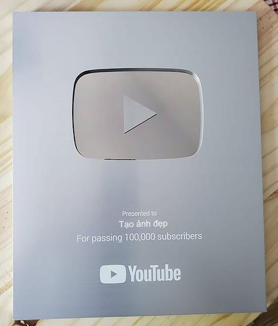 Ghép ảnh tên bạn vào nút bạc và nút vàng youtube