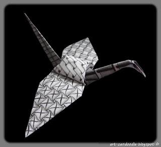 Zendooddle, zen doodle, zentangle, motif, origami