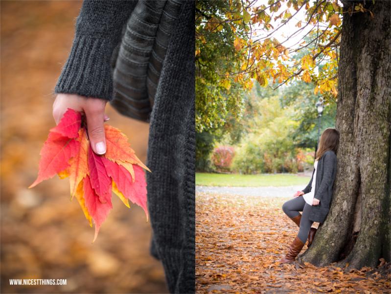 Herbstshooting im Park Herbst Portraitshooting