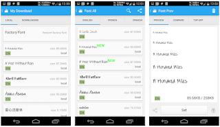 Cara mengganti Font Android dengan iFont Installer