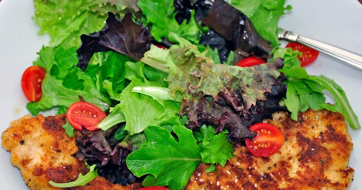 My Carolina Kitchen Barefoot Contessa S Parmesan Chicken Topped With Salad Recipe