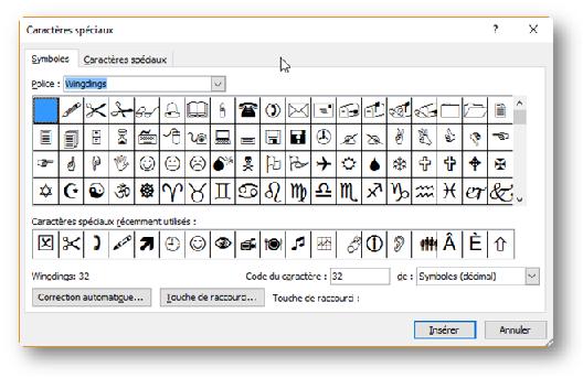 Sb astuces comment ins rer un symbole dans word excel for Dans word