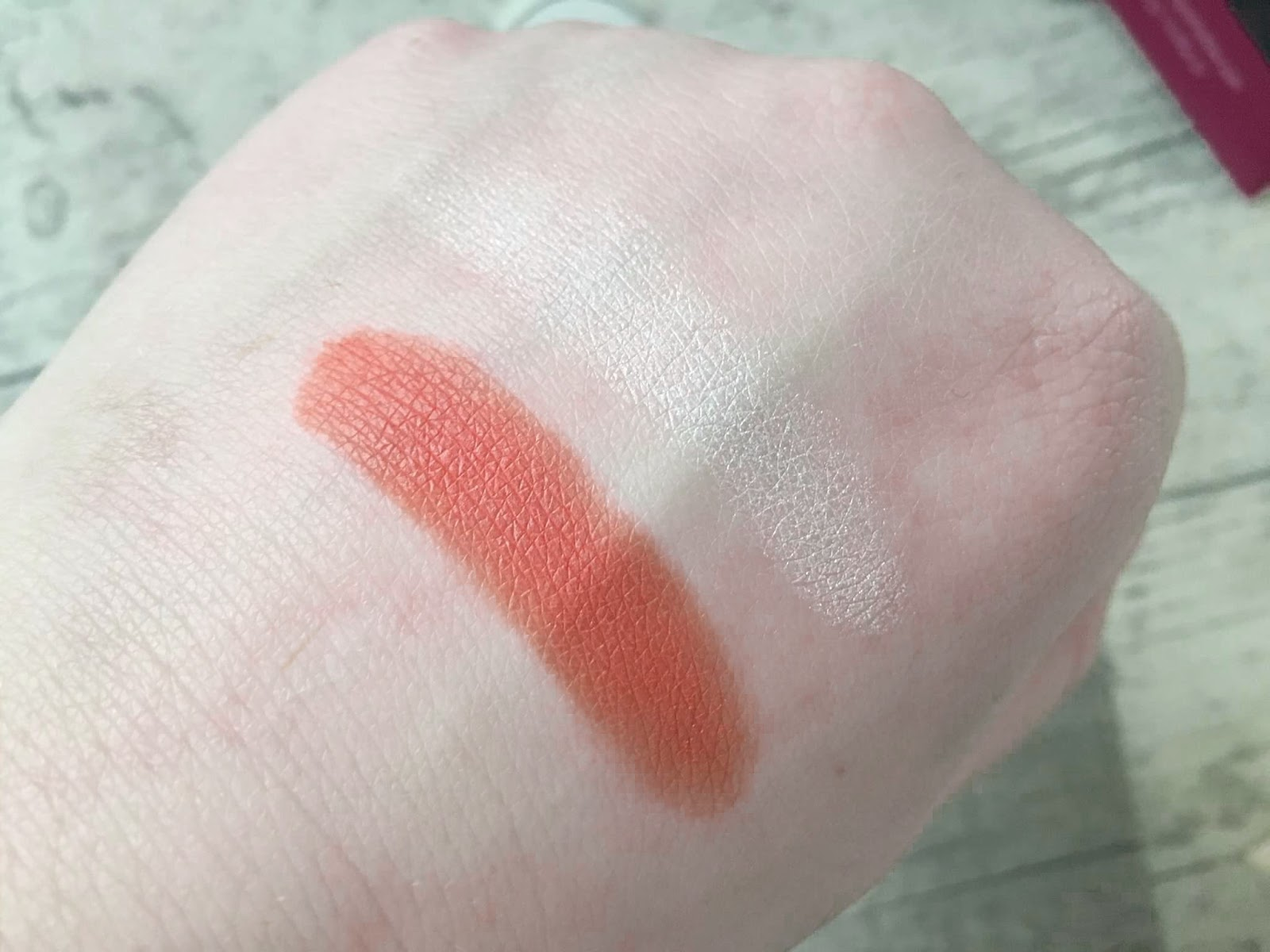 Makeup Geek Poppy and Ice Queen Swatches