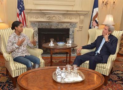 Zuriel Oduwole, John Kerry, U.S Secretary of State