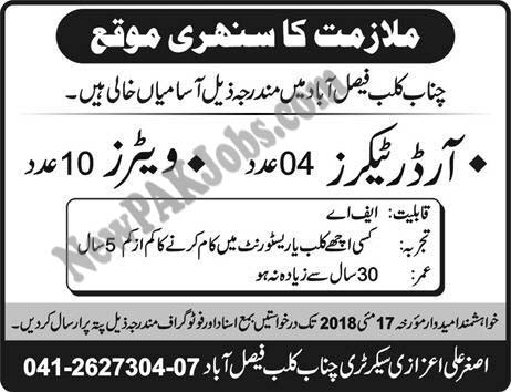 waiters-order-takers-jobs-in-faisalabad