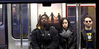 Krysten Ritter, Charlie Cox and Mike Colter in The Defenders Series (7)