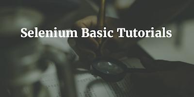 Basic Selenium Tutorial