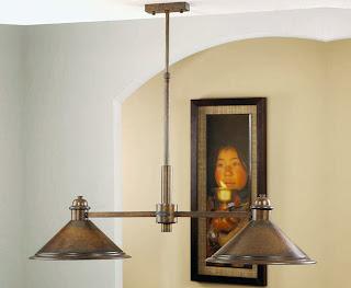 lampara 2 luces, lampara salon comedor, lampara de mesa