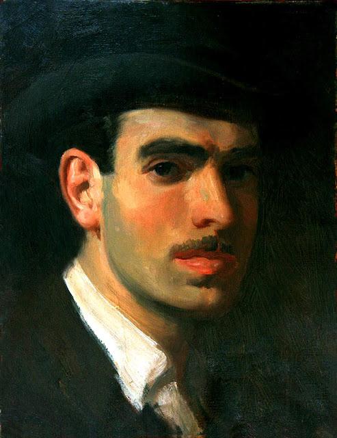 Federico Lloveras Herreras, Self Portrait, Portraits of Painters, Fine arts, Portraits of painters blog, Paintings of Federico Lloveras, Painter Federico Lloveras