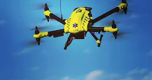 flypulse defibrillator drones get to the incident 4X faster than an ambulance