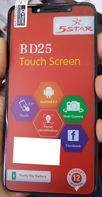 5Star BD25 Flash File | Firmware  MT6580 5.1 LCD Fix Hang Logo & Dead Recovery Firmware File