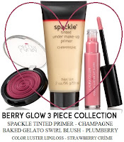 BERRY GLOW COLLECTION champagne face prime gelato swirl blush plumberry luster strawberry creme