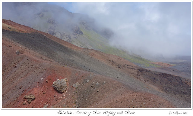 Haleakala: Streaks of Color. Shifting with Clouds.