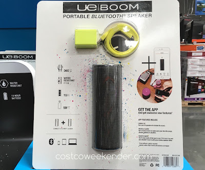 Costco 1118000 - Jam to your music from your smartphone with the Ultimate Ears Boom Portable Bluetooth Speaker