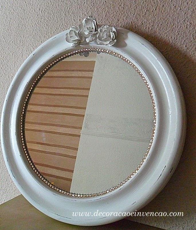 Espelho Shabby Chic baratinho - DIY